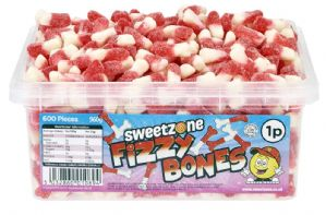 Sweetzone Fizzy Bones Tub Of 600 (HALAL)